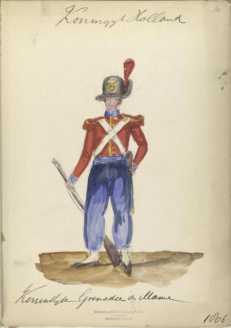 Koninklijk Holland. Koninklijk Grenadier de Marine. 1806