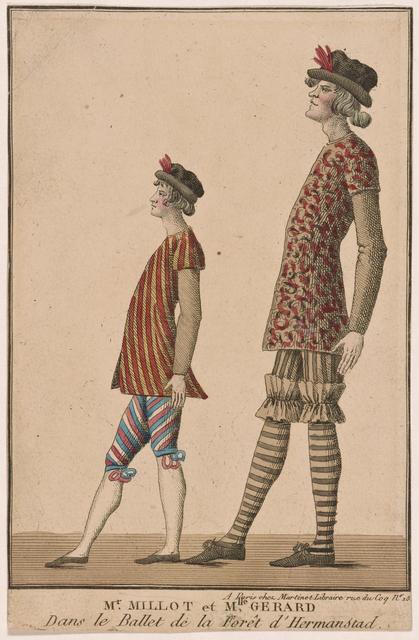 M'r Millot et M'lle Gérard dans le ballet de la Forêt d'Hermanstad.