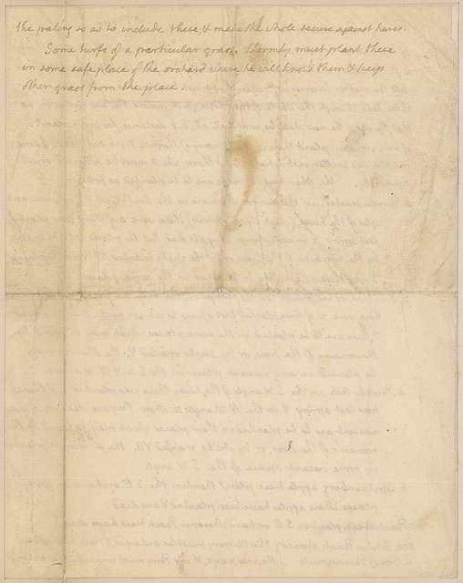 Letter to unknown correspondent