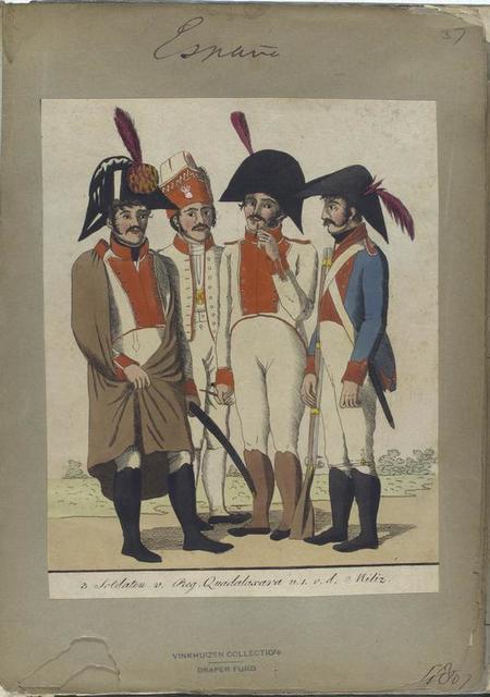 3 Soldaten v. Reg. Quadalaxara u. 1 v.d. Miliz. 1807