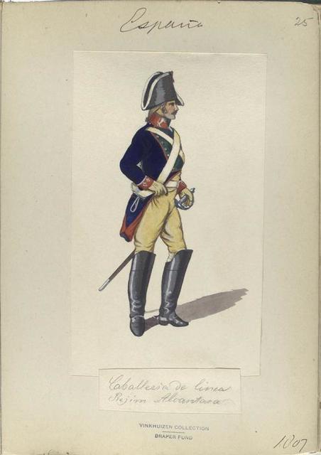 Caballeria de linea Rejim. Alcantara. 1807