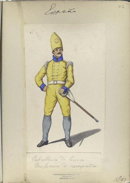 Caballeria de linea. Uniforme de campaña. 1807
