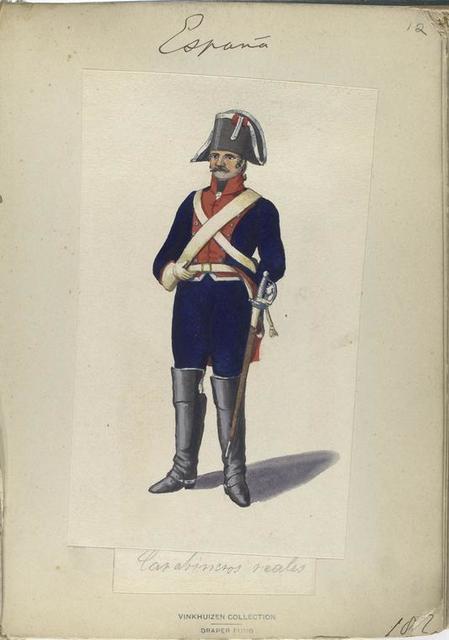 Carabineros reales. 1807