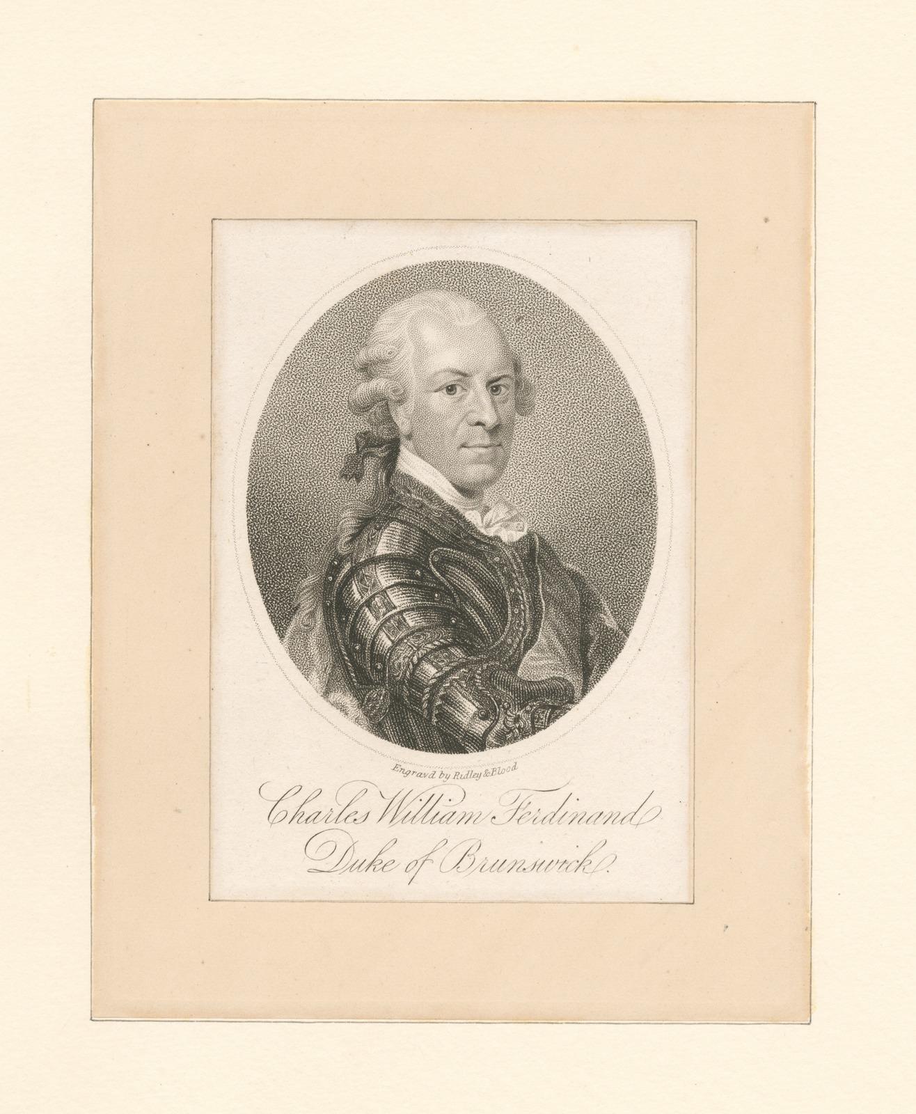 Charles William Ferdinand, Duke of Brunswick.