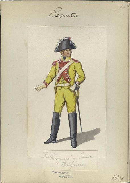 Dragones de Pavia. Brigadier. 1807