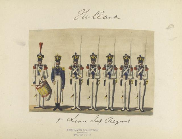 Holland. 5-e Linie Inf. Regiment. 1807