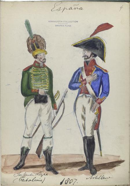 Infanteria Ligera (Catalonia[?]); Artilleria. 1807