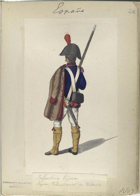 Infanteria lijera. Regim. Voluntarios de Valencia. 1807