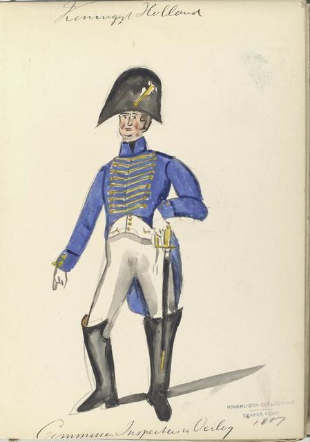 Koninklijk Holland. Commissaris Inspector van Oorlog. 1807