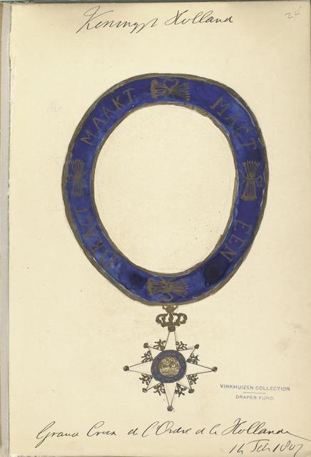Koninklijk Holland. Grand Cross de l'Ordre de le Holland. 14 Febr. 1807
