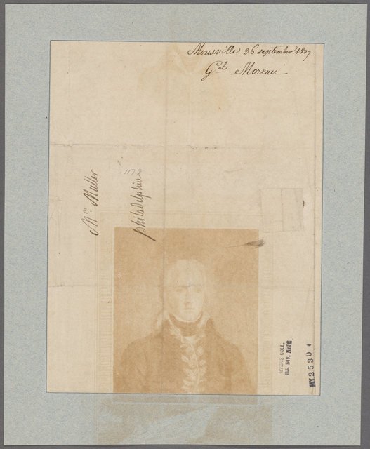 Moreau, [Jean Victor]. Morisville. To Mr. Muller