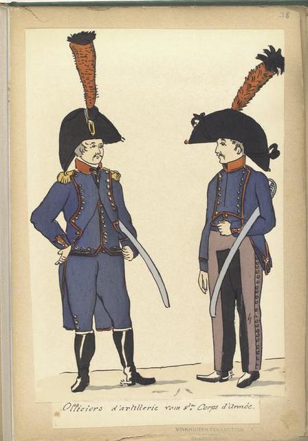 Officiers d'artillerie vom 8 Corps d'Armée.
