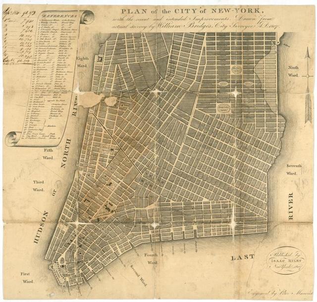 Plan of the city of New-York : with the recent and intended improvements