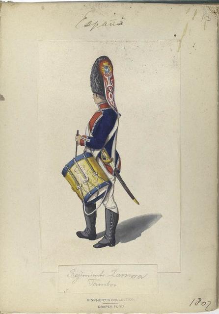 Regimento Zamora. Tambor. 1807