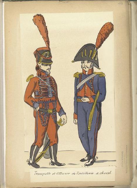 Trompette et Officier de l'artillerie a cheval.