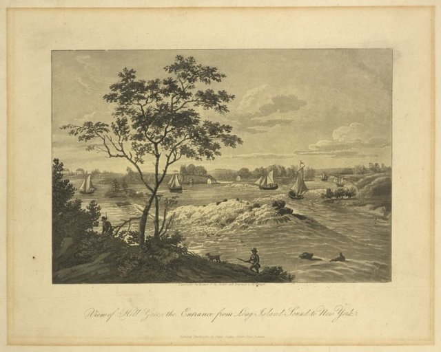 View of Hell Gate, the entrance from Long Island Sound to New York
