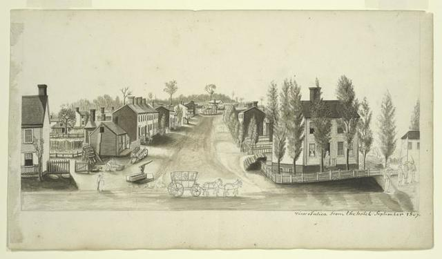 View of Utica from the hotel September 1807.