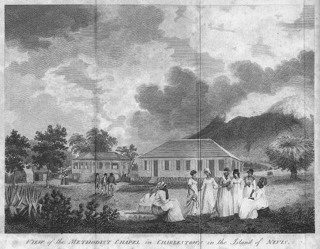 View of the Methodist Chapel in Charlestown in the Island of Nevis