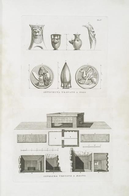 Antichita trovate a Gozo; Sepolcro trovato a Malta.