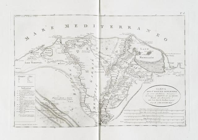 Carta della Egitto inferiore.