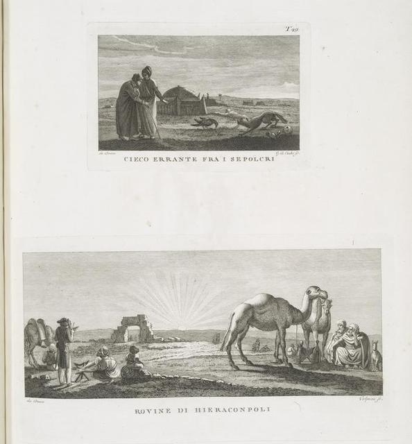 Cieco errante fra i sepolcri; Rovine di Hieraconpoli.