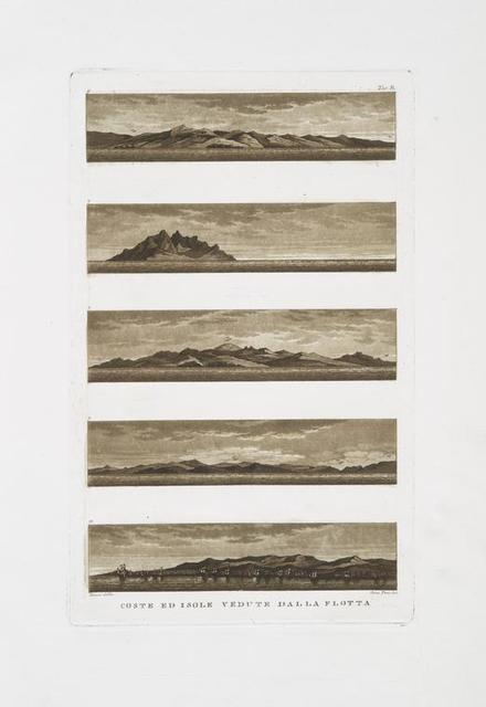 Coste ed isole vedute dalla flotta.