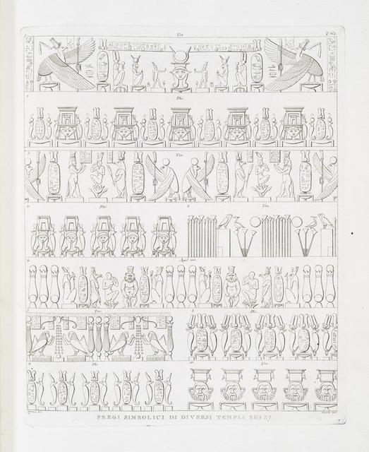 Fregi simbolici di diversi templi Egizj.