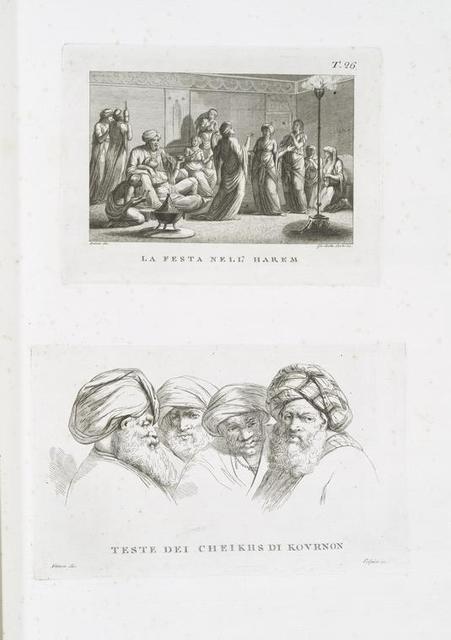 La festa nell' Harem; Teste dei Cheikhs di Kournon.