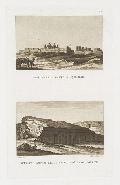 Monumento vicino a Quosseir;  Sepolcro antico nelle cave dell' Alto Egitto.