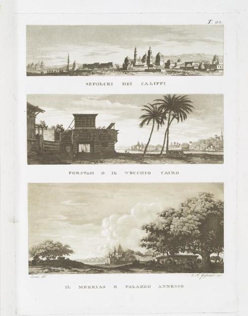 Sepolcri dei Califfi; Forstah o il Vecchio Cairo; Il Mekkias e Palazzo Annesso.