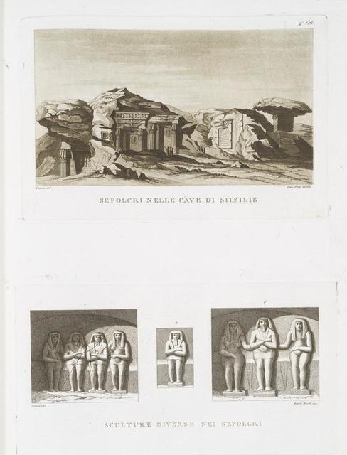 Sepolcri nelle cave di Silsillis; Sculture diverse nei sepolcri.