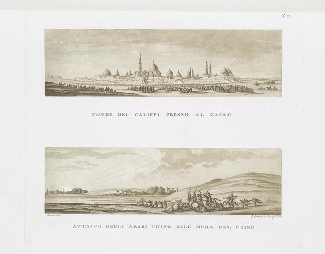 Tombe dei Califfi presso al Cairo; Attacco degli arabi vicino alle mura del Cairo.
