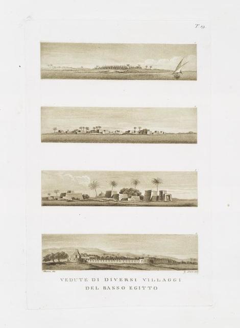 Vedute di diversi villaggi del Basso Egitto.