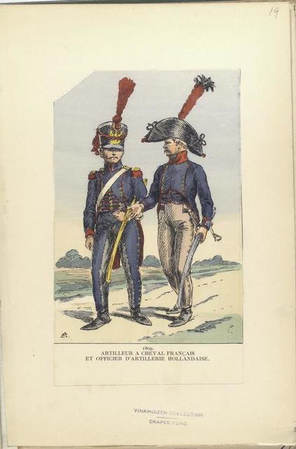 Artilleur a cheval Français et officier d'artillerie Hollandaise.