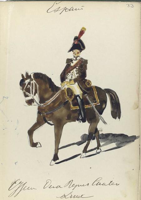 España, officier derde regiment cavalerie linie