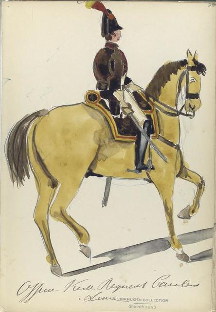 [España], officier vierde regiment cavalerie linie