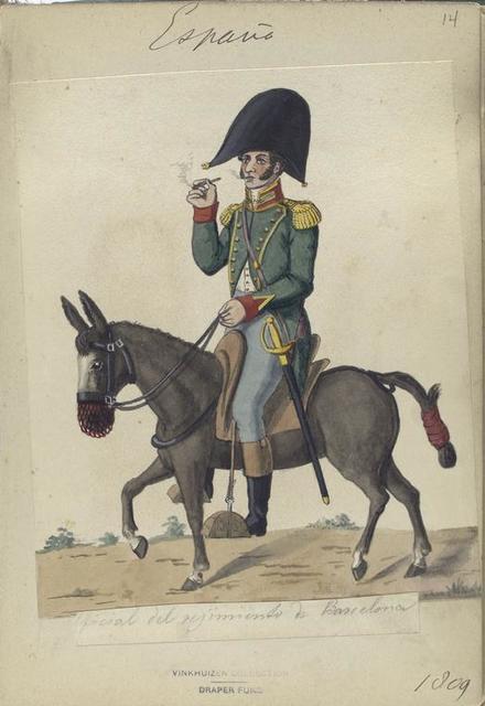 España, [o]ficial del regimiento de Barcelona