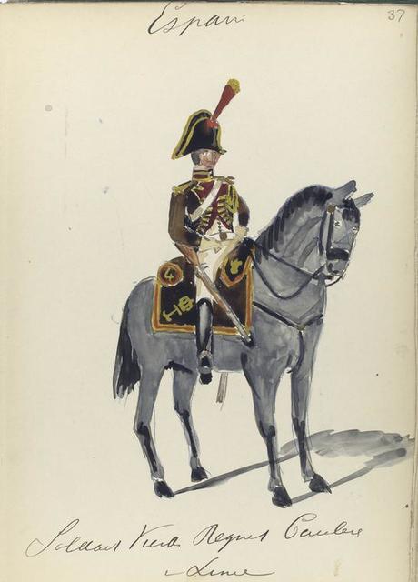España, soldaat vierde regiment cavalerie v linie