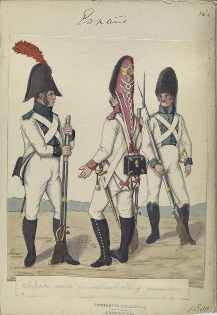 España, soldado raso de infanteria y granaderos