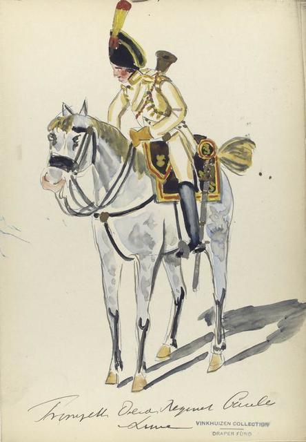 [España], trompette derde regiment cavalerie linie