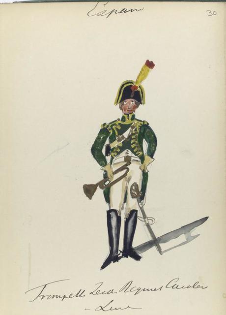España, trompette leide [?] regiment cavalerie v linie