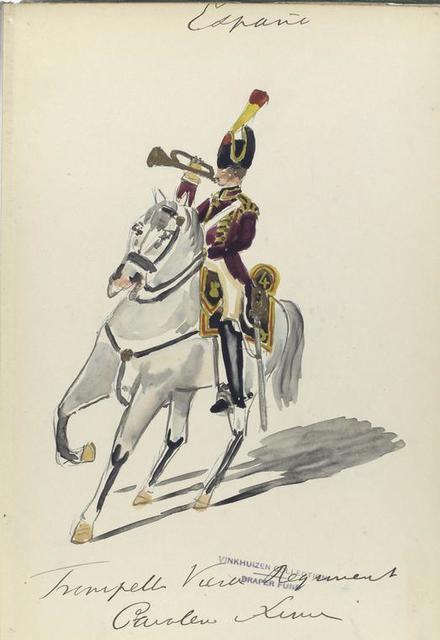 España, trompette vierde regiment cavalerie linie