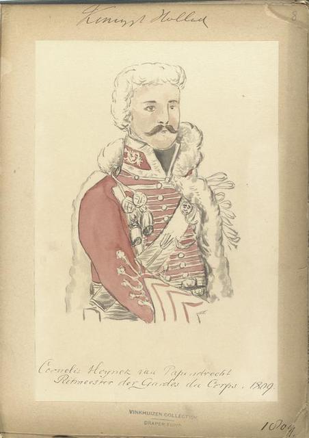 Koningrijk Holland. Cornelis [...] van [Papendreeh] Ritmeester der Gardes der Corps 1809