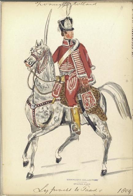 Koningrijk Holland. Lijfwacht te paard.