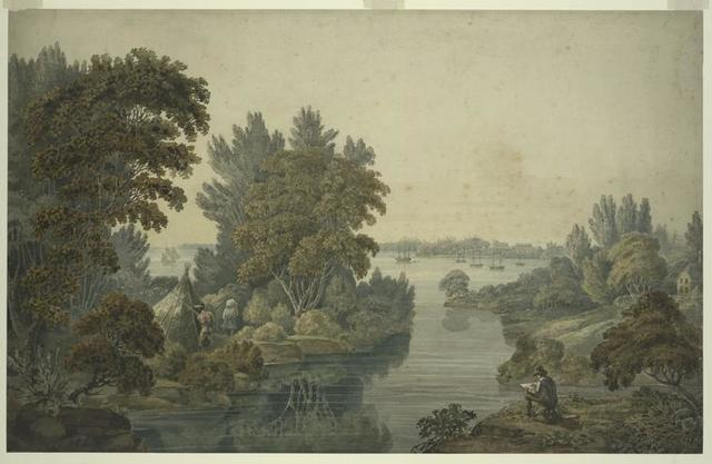 [A view of the Lake & Fort Erie, from Buffalo Creek.]