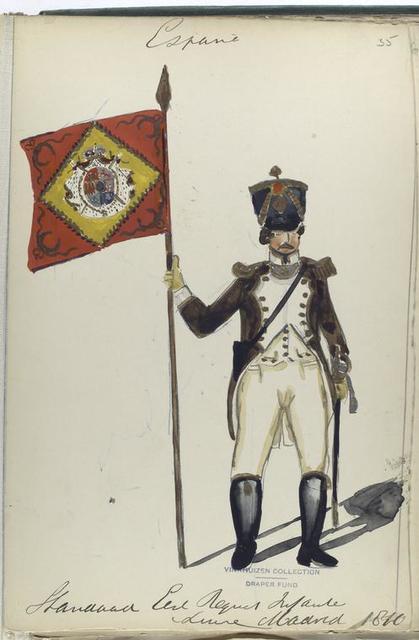 España, Standard Eerst Regiment Linie Madrid 1810