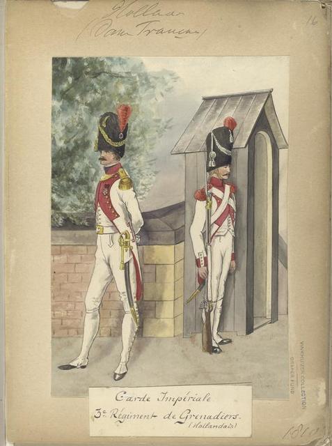 Holland (Dom... Francais). Garde Imperiale. 3e. [Deerde] Regiment de Grenadiers (Hollandais).