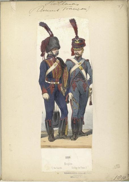 Hollande (dom... Francais). Empire (Ex-Garde. Soldat du Train).