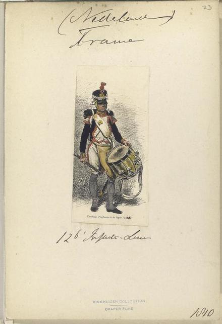 (Nederlande). France. 126. Infanterie ligne. Tambour d'infanterie de ligne.