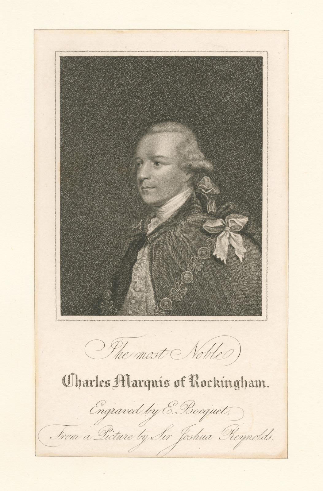 The most noble Charles Marquis of Rockingham.